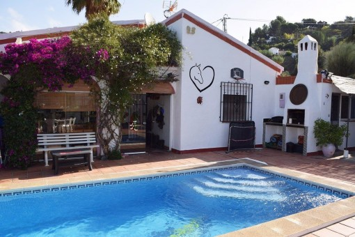 Rustic finca with spacious pool and mountain views in Torrox, Málaga