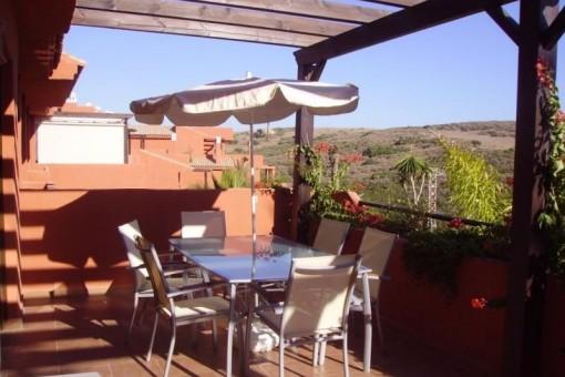 Apartamento acogedor con su gran terraza en Casares