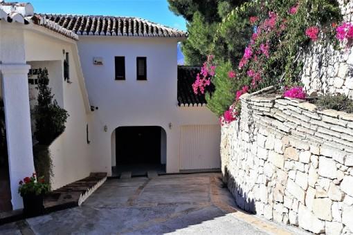 La entrada al garaje