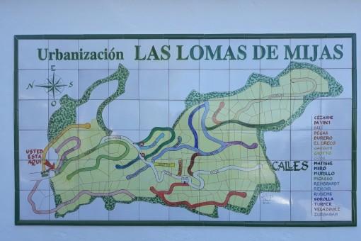 La urbanización Las Lomas de Mijas