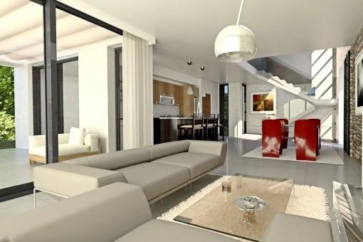 Diseño interior abierto
