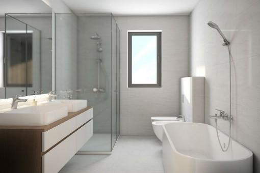 Baño moderno con ventana