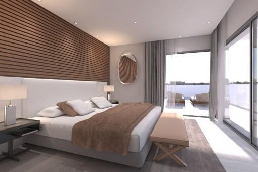 Amplio dormitorio con vistas panorámicas