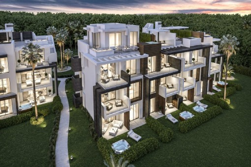 Cada apartamento tiene una terraza