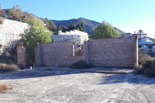 Vistas alternativas del muro de contención