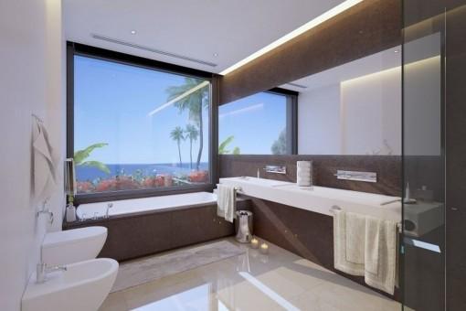Cuarto de baño con impresionantes vistas