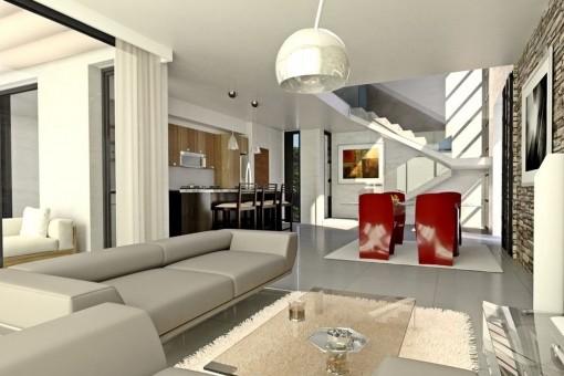 Posible diseño de la sala de estar