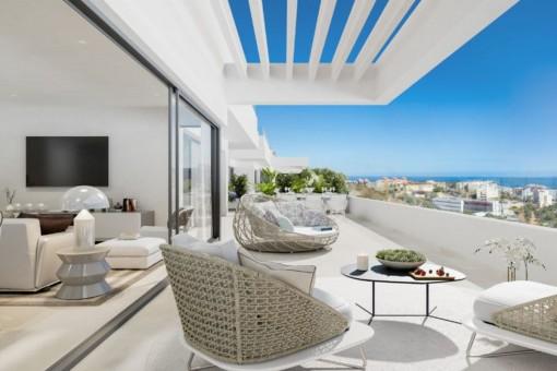 Fantástico apartamento con espectaculares vistas al mar en Estepona
