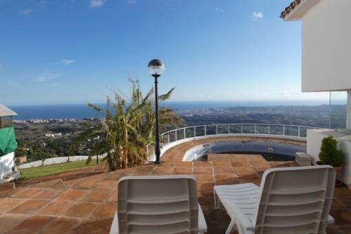 Villa con impresionantes vistas panorámicas en Mijas