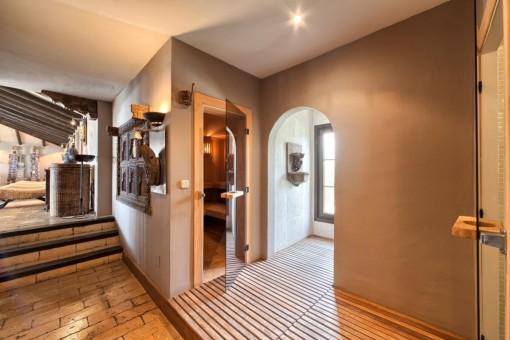 ärea de bienestar con sauna