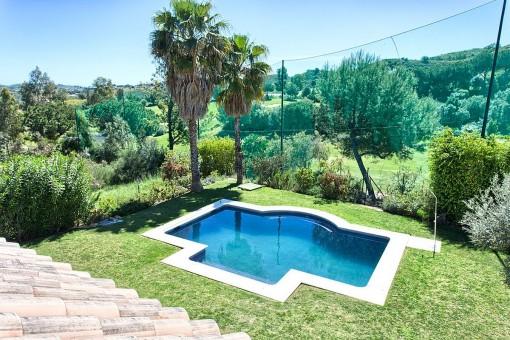 Jardín con fantásticas vistas panorámicas