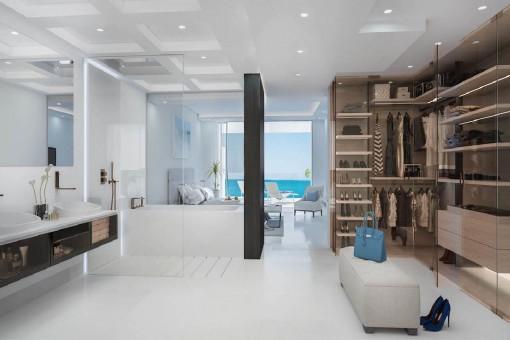 Dormitorio de alta calidad con baño y vestidor
