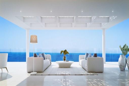 Terraza impresionante con vistas al mar