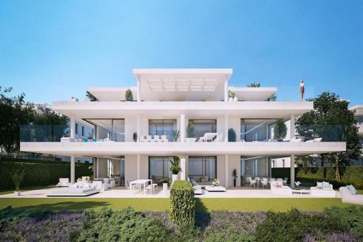 Vista exterior moderna de la propiedad