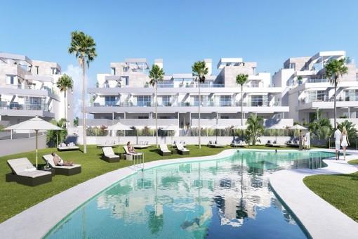 Apartamento moderno en una ubicación privilegiada de Estepona - comprar