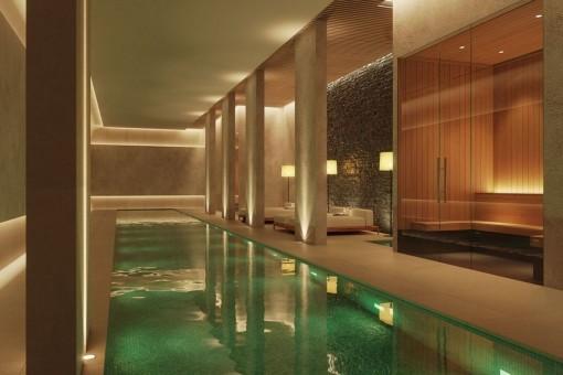 Zona de spa con piscina
