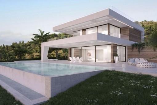 Chalet de nueva construcción junto a complejo de golf en Estepona
