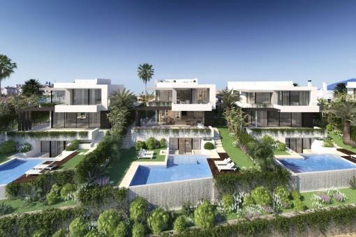 Chalet sobre plano de un diseño impresionante con 4 dormitorios y certificación Breeam, cerca de golf en Benahavis