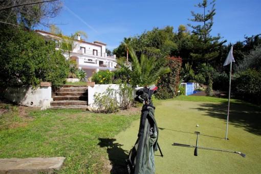 Campo de golf en la zona exterior
