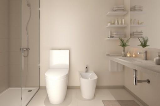 Baño en estilo puristo
