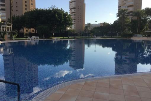 Espaciosa piscina comunitaria