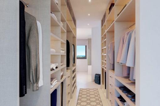Vista alternativa del armario