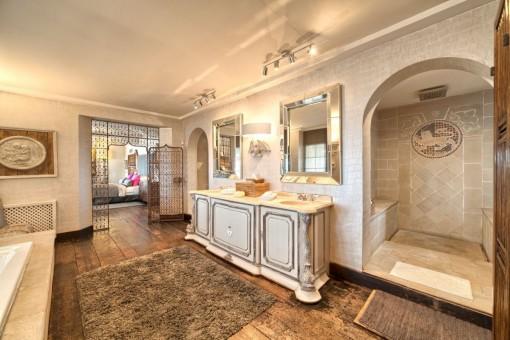 Área de bienestar con baño turco