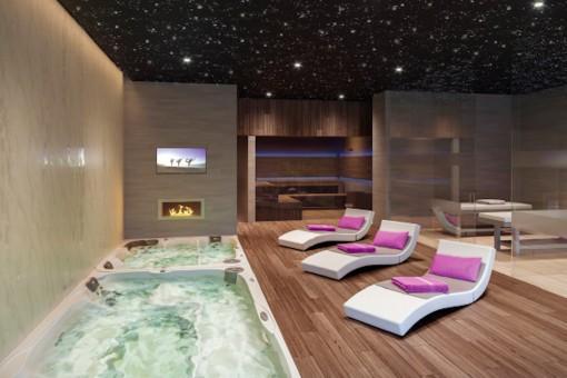 Zona de spa cómoda