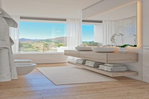 Hermoso baño con vistas