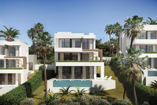 Precio inmejorable para este moderno chalet sobre plano con 3 dormitorios en La Cala de Mijas